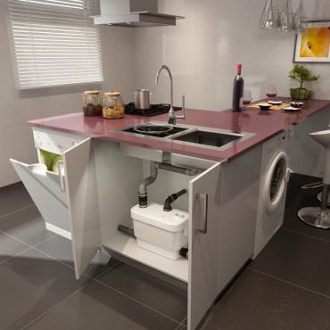 Fabulous Einbau einer Küche oder eines Hauswirtschaftsraumes SA01